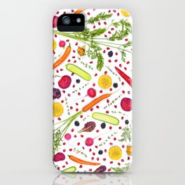 Fruits and vegetables pattern (21) iPhone Case