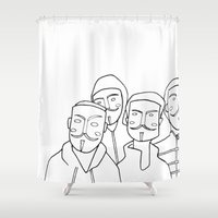anonymous Shower Curtains featuring #anonymous by Claudio Calia