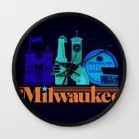 milwaukee Wall Clocks featuring MKE ~ Milwaukee, WI by Jeremy Pettis