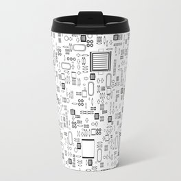 All Tech Line / Highly detailed computer circuit board pattern Travel Mug