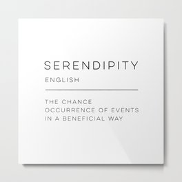 Serendipity Definition Metal Print