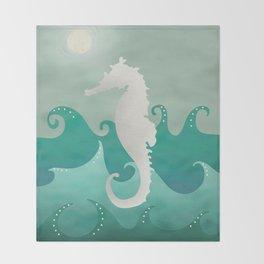 Sea Stallion #Seahorse #Ocean Throw Blanket