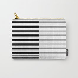 The Piano Black and White Keyboard with Horizontal Stripes Carry-All Pouch
