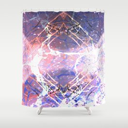Abstract Ripple Reflection Shower Curtain