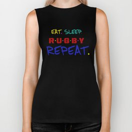 rugby lover ,  typography Biker Tank