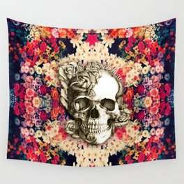 You are not here Day of the Dead Rose Skull. Wall Tapestry