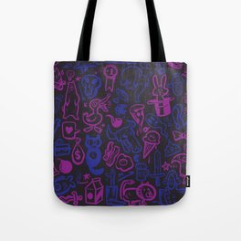 Blue and Purple Stuff Tote Bag