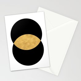 VESICA PISCES CIRCLE ABSTRACT GEOMETRIC SYMBOL Stationery Cards