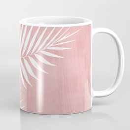 Pink Paint Stroke of Palm Leaves Coffee Mug