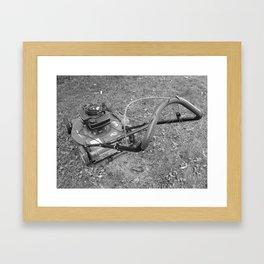 Old lawn mover Framed Art Print