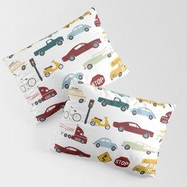 Beep Beep! Cars and Trucks Traffic Pattern Pillow Sham