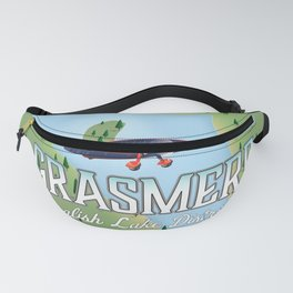 Grasmere English Lake District vintage map Fanny Pack