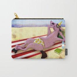 Itsy Bitsy Teenie Weenie Yellow Polka Dot Thong Unicorn Carry-All Pouch