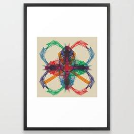 solidaire dans la decheance Framed Art Print