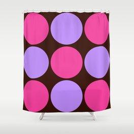 Pink Purple Dots Shower Curtain
