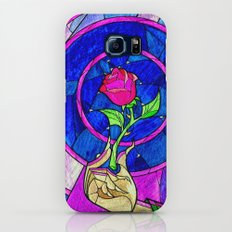 Beauty And The Beast Red Rose Flower Galaxy S6 Slim Case