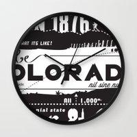 colorado Wall Clocks featuring Colorado by To Be Colorado