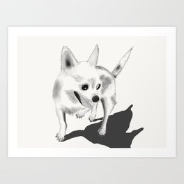 Pinot the Chihuahua Art Print