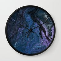 celestial Wall Clocks featuring Celestial by BevyArt