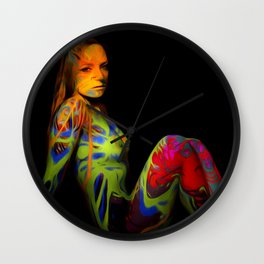 Paint Me Nude Wall Clock