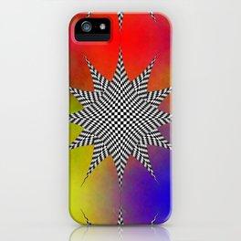 Modern Checkered Plasma iPhone Case