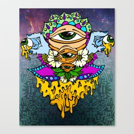 Open Your Eyes Psychedelic Illustration Canvas Print