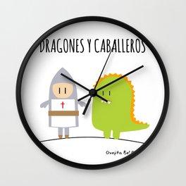Dragones y Caballeros Wall Clock