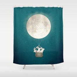 moon bunnies Shower Curtain