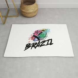 Football Brazil  TShirt Football Shirt Footballer Gift Idea  Rug