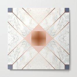 Copper & Marble & Pastel 03 Metal Print