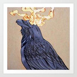 The Shadow Raven Art Print