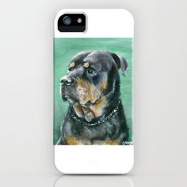 The Colorful Rottweiler Painting iPhone Case