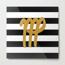 Virgo Stripes Metal Print