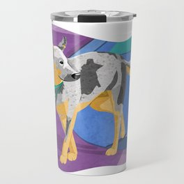 Blue Heeler Dog Art Illustration Travel Mug