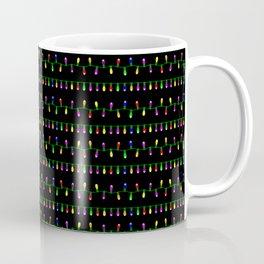 Christmas Lights Small Print Pattern Coffee Mug