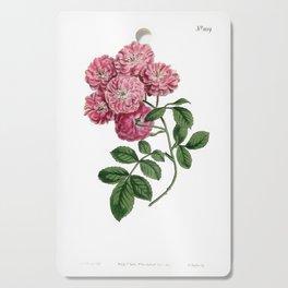 Bramble-Flowered Rose / W. Curtis 1857 Cutting Board