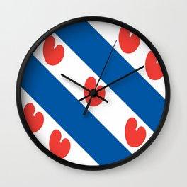flag of frisia Wall Clock