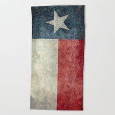 Texas state flag, Vintage banner version Beach Towel