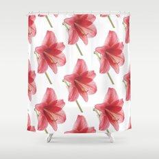Amaryllis pattern Shower Curtain