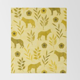 Forest Animal and Nature III Throw Blanket