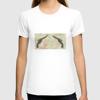 guns T-shirts featuring Guns & Flowers by fyyff