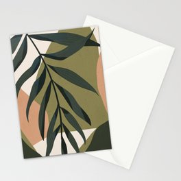 Tropical Leaf- Abstract Art Stationery Cards