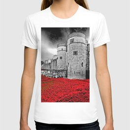 Tower of London Red Poppies T-shirt