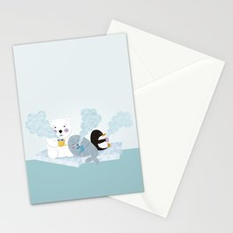polar coffe Stationery Cards
