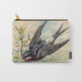 Vintage Ocean Swallow Carry-All Pouch