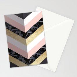Chevron Pattern 1. Marble and Glitter #decor #buyart Stationery Cards