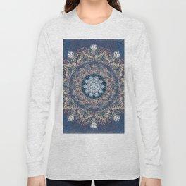 Blue's Golden Mandala Long Sleeve T-shirt