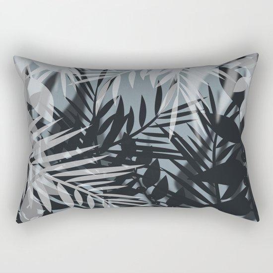 Gray Leaves pattern . Rectangular Pillow