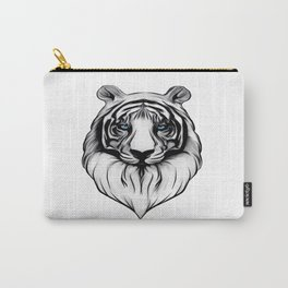 White Tiger with Blue Eyes Carry-All Pouch