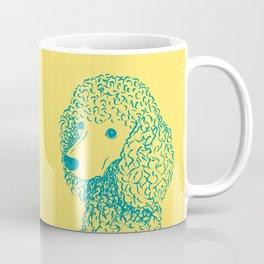Poodle (Yellow and Teal) Coffee Mug